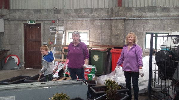 Seán, Mary and Kathleen getting planter boxes ready.jpg