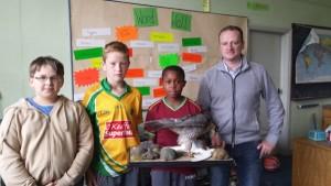 Tony Keneally & Sparrow Hawk and Sudents of Boys National School