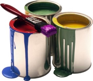 tins of paint